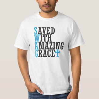 SWAG ahorrado con la camiseta asombrosa de la Camisas
