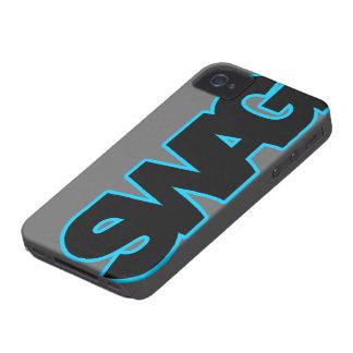 SWAG azul de neón iPhone 4 Case-Mate Protectores
