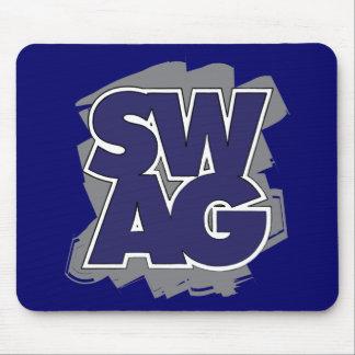 SWAG - azul y gris Tapetes De Ratón