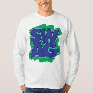 SWAG - azul y verde Playera