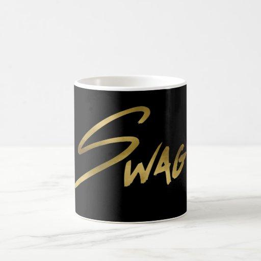 swag black gold typography coffee mug zazzle