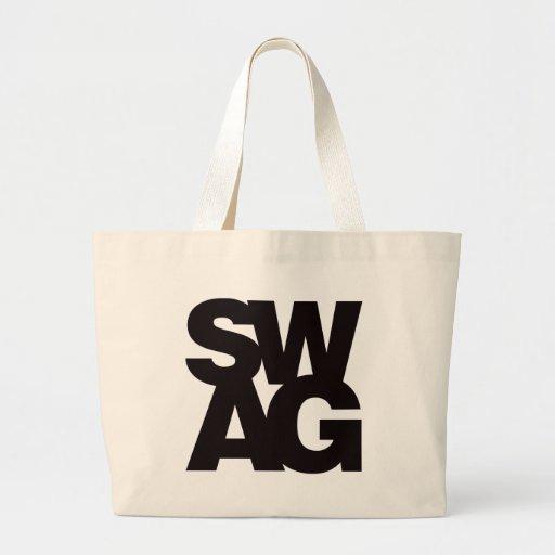 Swag - Black Jumbo Tote Bag