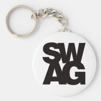 Swag - Black Keychain
