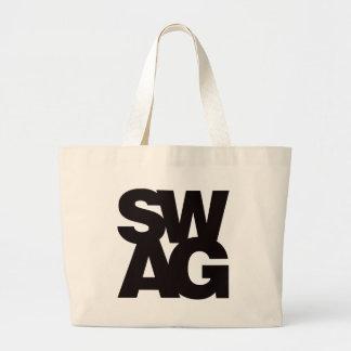 Swag - Black Large Tote Bag