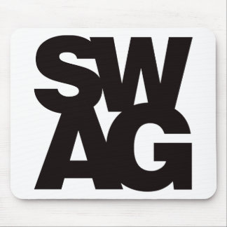 Swag - Black Mouse Pad