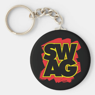 SWAG - Black & Red Key Chain