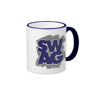 SWAG - Blue & Grey Ringer Mug
