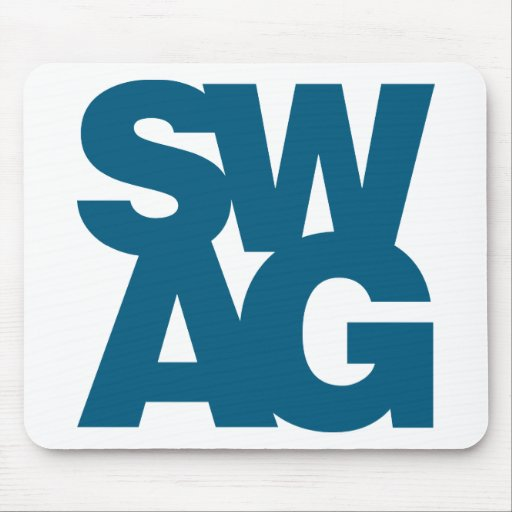 Swag - Blue Mouse Pad