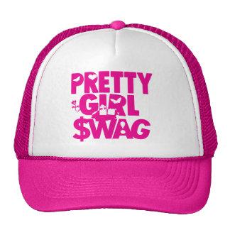 ¡swag bonito del chica! gorras
