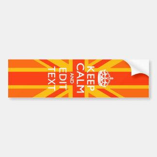 Swag británico anaranjado de la bandera de Union Pegatina Para Auto