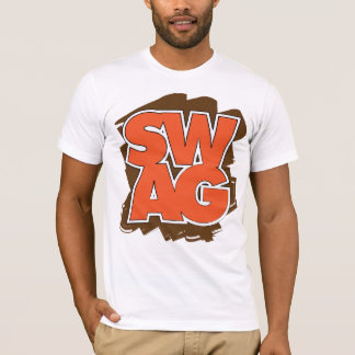 SWAG - Brown y naranja Playera