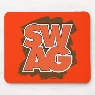 SWAG - Brown y naranja Tapetes De Ratón