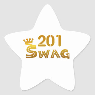 Swag de 201 New Jersey Colcomanias Forma De Estrella Personalizadas