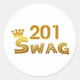 Swag de 201 New Jersey Pegatinas Redondas