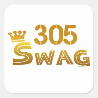 Swag de 305 la Florida Pegatinas Cuadradases Personalizadas