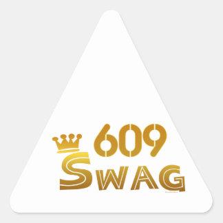 Swag de 609 New Jersey Calcomanías De Trianguladas