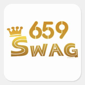 Swag de 659 Alabama Calcomanias Cuadradas