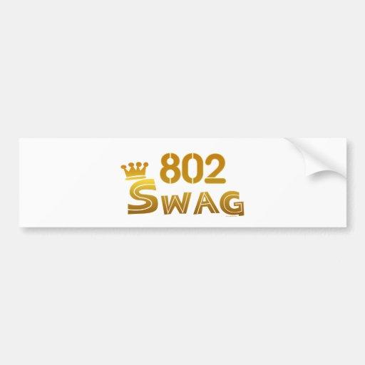 Swag de 802 Vermont Etiqueta De Parachoque