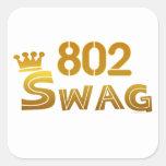 Swag de 802 Vermont Pegatinas Cuadradas Personalizadas