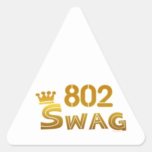 Swag de 802 Vermont Pegatinas Trianguladas