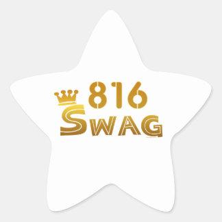 Swag de 816 Missouri Pegatina En Forma De Estrella