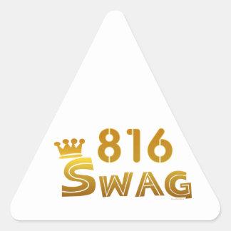 Swag de 816 Missouri Pegatina Triangular