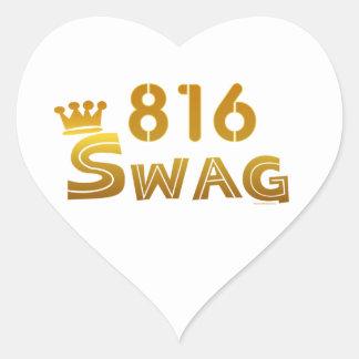 Swag de 816 Missouri Pegatina En Forma De Corazón