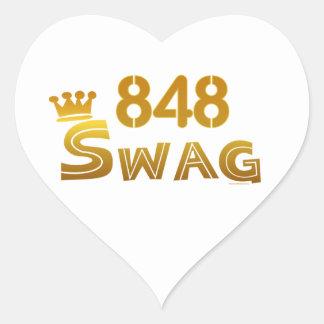 Swag de 848 New Jersey Calcomania Corazon Personalizadas