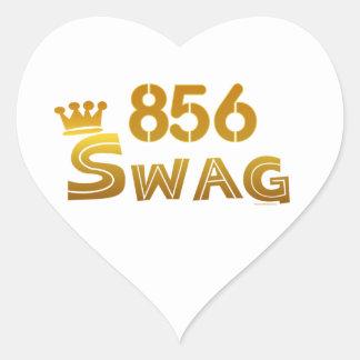 Swag de 856 New Jersey Pegatinas De Corazon
