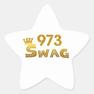 Swag de 973 New Jersey Calcomanías Forma De Estrellaes Personalizadas