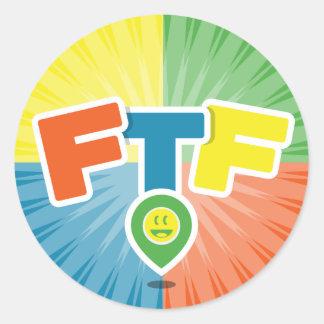 Swag de FTF (primero encontrar) Pegatina Redonda