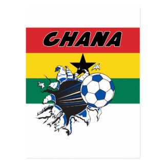Swag de Futbol del fútbol de Ghana Tarjetas Postales