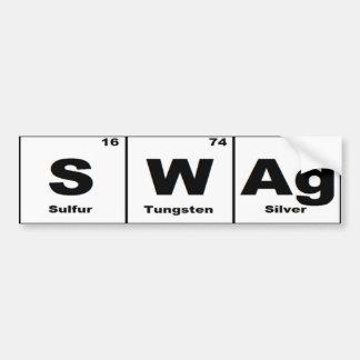 Swag de la tabla periódica pegatina para auto