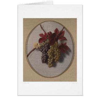 Swag de las uvas (1363) tarjeta de felicitación