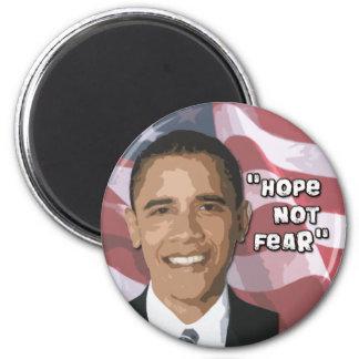 Swag de Obama del miedo de la esperanza no Imán Redondo 5 Cm
