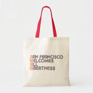 Swag de San Francisco retro Bolsa Tela Barata