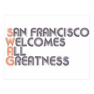 Swag de San Francisco retro Postal