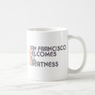Swag de San Francisco retro Taza