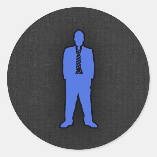 Swag del azul real pegatina redonda