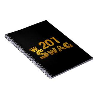 Swag del código de área 201 cuaderno