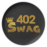 Swag del código de área 402 platos para fiestas