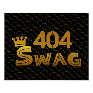 Swag del código de área 404 poster