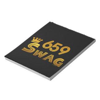 Swag del código de área 659 bloc de notas