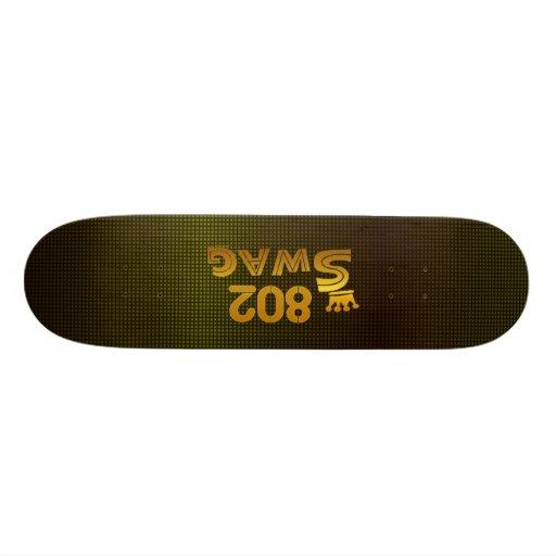 Swag del código de área 802 tablas de skate