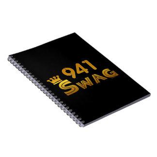 Swag del código de área 941 libro de apuntes