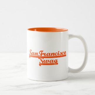 Swag del equipo de San Francisco Taza De Dos Tonos