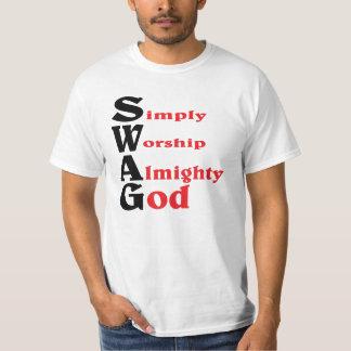 Swag, estilo de DIOS Playera