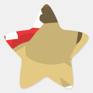 Swag estupendo del perro escaso pegatina en forma de estrella