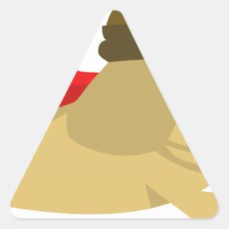 Swag estupendo del perro escaso pegatina triangular