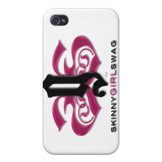 Swag flaco del chica para su teléfono iPhone 4 carcasa